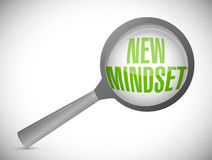 New mindset review under a magnify glass Royalty Free Stock Images