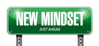 New mindset street sign illustration design Royalty Free Stock Photo