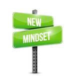 New mindset street sign illustration Stock Image
