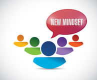 New mindset teamwork concept. illustration Stock Photo