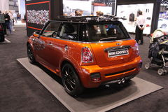 New Mini Cooper 2011. Chicago auto show February 2011 Royalty Free Stock Image