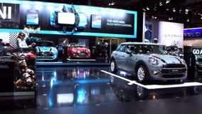 New Mini 5 door compact hatchback car stock video
