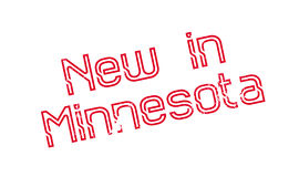 New In Minnesota rubber stamp stock illustration