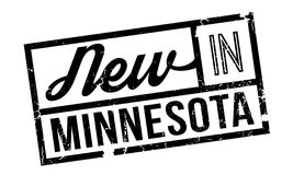 New In Minnesota rubber stamp Stock Photo