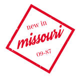 New In Missouri rubber stamp Stock Image
