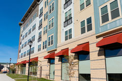 New mixed use building exterior Stock Images