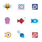 New mobile app startup logo icon set digital age community Royalty Free Stock Photography
