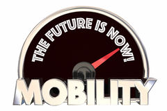 New Mobility the Future is Now Speedometer. 3d Illustration royalty free illustration
