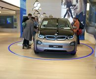 New model of BMW electric car Royalty Free Stock Photos