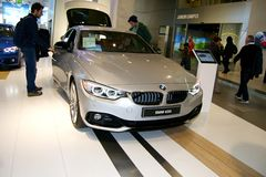 New model of BMW Sedan Stock Photos