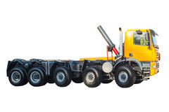 New model semi heavy truck isolated over white background Royalty Free Stock Photo