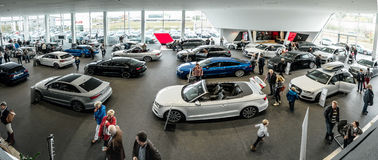 New models of the brand Audi Royalty Free Stock Photography