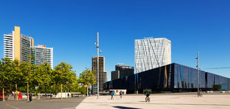 New moder district and Museu Blau in Barcelona, Spain Stock Image