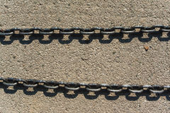 New modern anchor chain Royalty Free Stock Photo