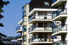 New modern apartment with balcony, Strasbourg Royalty Free Stock Photography