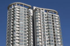 New Modern apartment building. Modern apartment building against blue sky in Shenyang city China Stock Image
