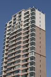New modern apartment building. Under blue clear sky for copy space Royalty Free Stock Photos
