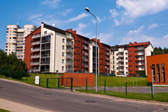 New and Modern Apartment Buildings Royalty Free Stock Photos