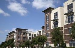 New modern apartment buildings stock photos