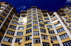 New modern apartments. Just built new modern apartments Royalty Free Stock Photography