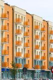 New modern apartments. Side view of the new modern apartments Royalty Free Stock Image