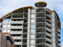 New modern apartments house under construction Stock Images