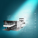 New modern architectural 3d  background Stock Image
