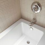 New modern bathroom with chrome faucets Royalty Free Stock Photography