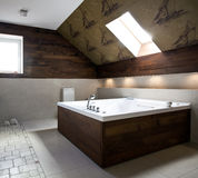 New modern bathroom interior royalty free stock photography