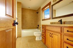 New modern beautiful bathroom in  luxury home interior. Stock Photo