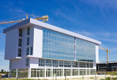 New Modern Building. Construction of New Modern Building Royalty Free Stock Photo