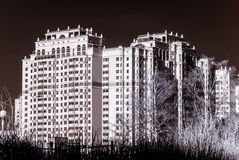 New modern building in Moscow, Russia, infrared view Royalty Free Stock Photo