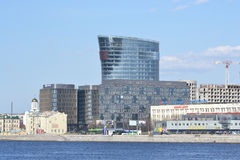 New modern business center, St.Petersburg. ST.PETERSBURG, RUSSIA  - MAY 2, 2013: New modern business center on the waterfront of the River Neva, St. Petersburg Stock Photo