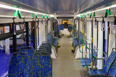 New modern cabin of city transport Royalty Free Stock Photo