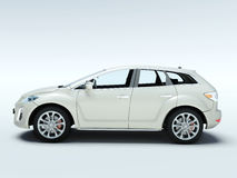 New modern car, 3d render. Royalty Free Stock Photos