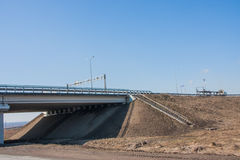 New modern car bridge on a background of the blue sky Royalty Free Stock Images