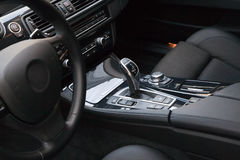 New modern car interior royalty free stock image