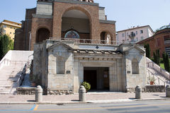New modern church from the front #2. Salsomaggiore Italy Royalty Free Stock Photo