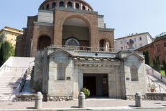 New modern church from the front #3. Salsomaggiore Italy Royalty Free Stock Photo