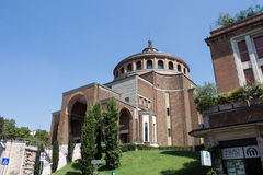 New modern church from the front #6. Salsomaggiore Italy Stock Image