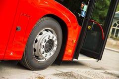 New modern city bus royalty free stock photos
