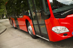 New modern city bus royalty free stock images