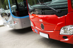 New modern city bus Stock Photos