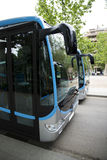 New modern city bus stock photography