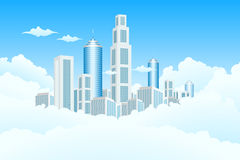 New Modern City in Clouds Royalty Free Stock Photo