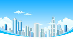 New Modern City in Clouds Stock Photos
