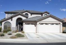 New Modern Classic Home. New modern desert classic home near Phoenix, Arizona, USA stock photo