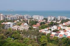 New Modern Condominium Buildings in Rio de Janeiro. Newly Developed Condominium Buildings in Highly Americanized Barra da Tijuca District in Rio de Janeiro stock images