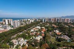 New Modern Condominium Buildings in Rio de Janeiro. Newly Developed Condominium Buildings in Highly Americanized Barra da Tijuca District in Rio de Janeiro royalty free stock image