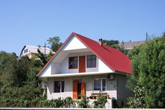 New modern cottage. In the summer in Sochi Stock Photos